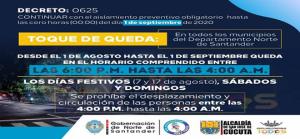 Nuevo toque de queda en Norte de Santander por todo el mes de agosto