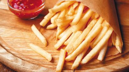 Papas fritas saludables hechas con arroz