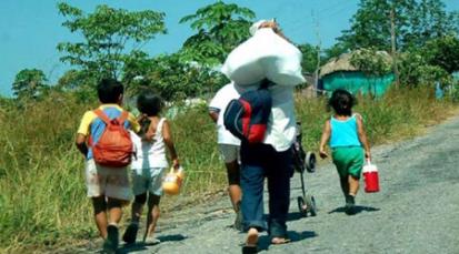 Desplazamiento forzado de 96 familiasde los municipios deTibú y Teorama.