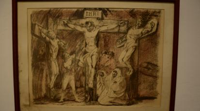 Obras en carboncillo del artista italiano Aligi Sassu: exposición del Víacrucis
