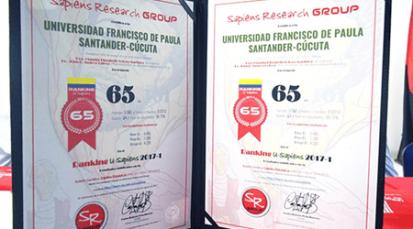 La UFPS se ubicó en el puesto 65 de 101, del Índice U-Sapiens