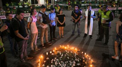 Velatón pacífica en Cúcuta