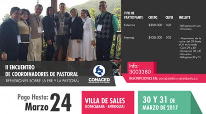 CONACED organiza diplomado y encuentro de coordinadores de pastoral