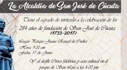 Alcaldía celebra los 284 años de Cúcuta