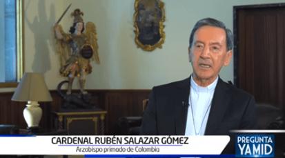 Cardenal Rubén Salazar está de acuerdo con protestas pacíficas para expresar opiniones