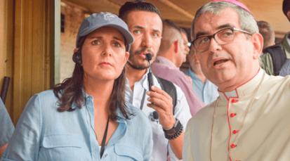 Embajadora de EE.UU ante la ONU comparte con los venezolanos en la Casa de Paso 'Divina Providencia'