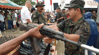 Fin del desarme en Colombia