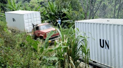 La ONU evacua contenedores con armas de siete zonas veredales