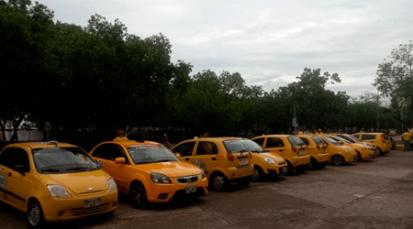 Protesta de taxistas en Cúcuta se tomó malecón