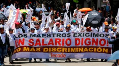 FECODE anuncia paro de maestros para el 23 de octubre en todo el país