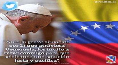 Por Colombia y Venezuela pide el Papa Francisco